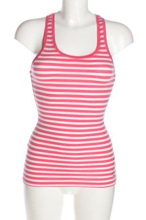 Hilfiger Denim Basic Top pink-weiß Streifenmuster Casual-Look