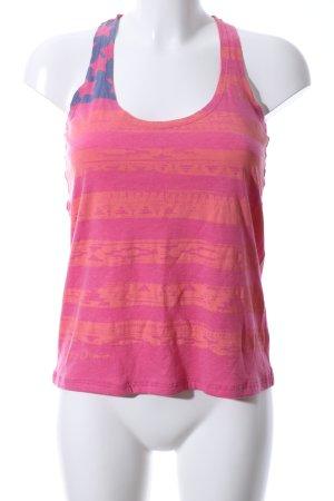 Hilfiger Denim Basic Top pink-hellorange Streifenmuster Casual-Look