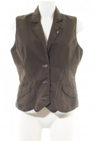 Hilfiger Denim Biker Vest brown business style