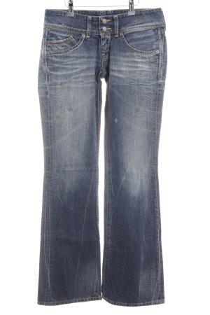 Hilfiger Denim Boot Cut Jeans blau Street-Fashion-Look