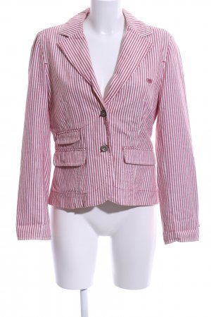 Hilfiger Denim Boyfriend-Blazer pink-weiß Allover-Druck Business-Look
