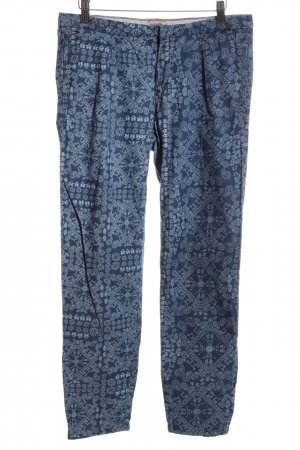 Hilfiger Denim Bundfaltenhose blau abstraktes Muster Casual-Look
