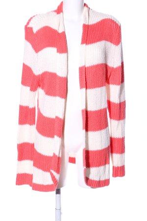 Hilfiger Denim Cardigan rot-weiß Streifenmuster Casual-Look