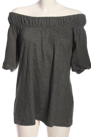 Hilfiger Denim Camisa tipo Carmen gris claro moteado look casual