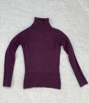 Hilfiger Denim Damen Pullover Rollkragen lila Größe S 36