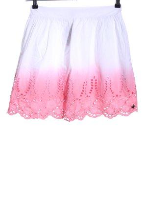 Hilfiger Denim Glockenrock weiß-pink Farbverlauf Casual-Look