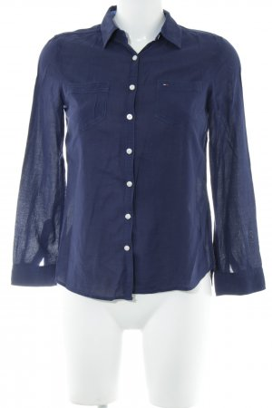 Hilfiger Denim Hemd-Bluse blau Business-Look