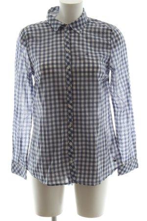 Hilfiger Denim Hemd-Bluse blau-weiß Karomuster Business-Look