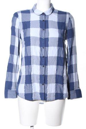 Hilfiger Denim Hemd-Bluse blau-weiß Karomuster Casual-Look