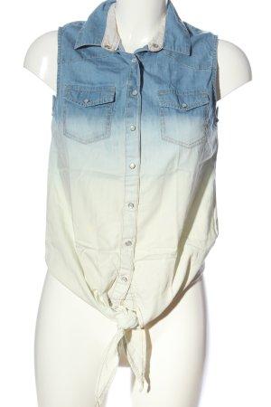 Hilfiger Denim Hemd-Bluse blau-wollweiß Farbverlauf Casual-Look