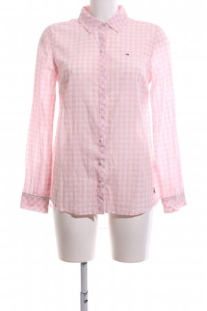 Hilfiger Denim Hemd-Bluse pink-wollweiß Karomuster Business-Look