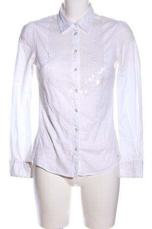 Hilfiger Denim Hemd-Bluse weiß Business-Look