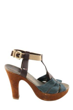 Hilfiger Denim High Heel Sandaletten mehrfarbig Casual-Look