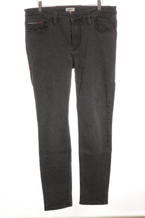 Hilfiger Denim Hoge taille jeans grijs-taupe casual uitstraling