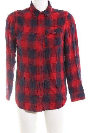 Hilfiger Denim Holzfällerhemd rot-blau Karomuster Casual-Look