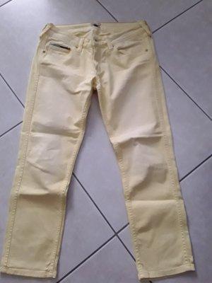 Hilfiger Denim 7/8 Length Jeans pale yellow cotton