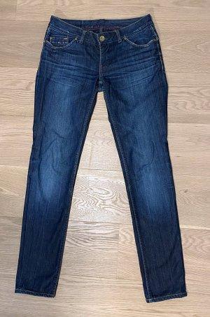 Hilfiger Denim Jeans taille basse bleu coton