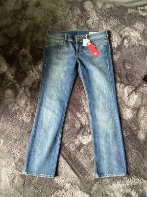 Hilfiger Denim Jeansy z prostymi nogawkami niebieski Bawełna