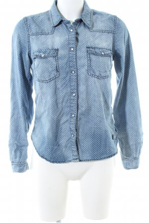 Hilfiger Denim Denim Shirt blue-white spot pattern casual look