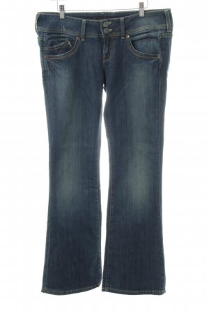 Hilfiger Denim Jeansschlaghose stahlblau Jeans-Optik