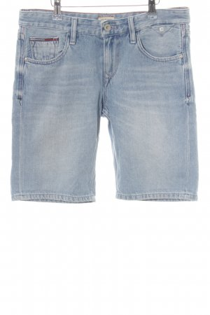 Hilfiger Denim Jeansshorts blau Used-Optik