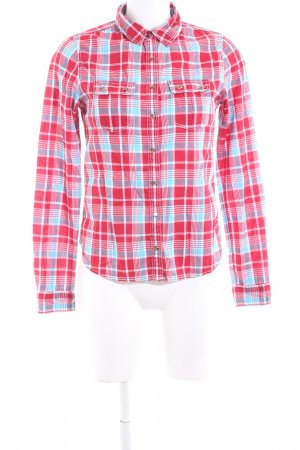 Hilfiger Denim Karobluse rot-türkis Allover-Druck Casual-Look