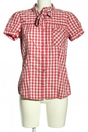 Hilfiger Denim Chemise à manches courtes rouge-blanc imprimé allover