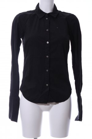 Hilfiger Denim Langarm-Bluse schwarz Business-Look