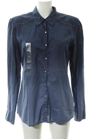 Hilfiger Denim Langarm-Bluse Farbverlauf Metallknöpfe
