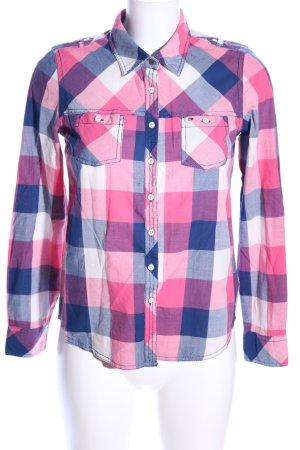 Hilfiger Denim Langarmhemd pink-blau Karomuster Casual-Look