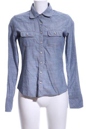 Hilfiger Denim Langarmhemd blau meliert Casual-Look