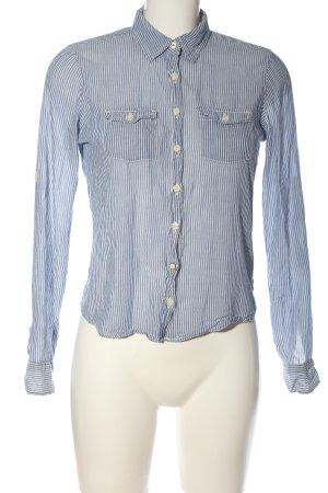 Hilfiger Denim Langarmhemd blau-weiß Streifenmuster Casual-Look