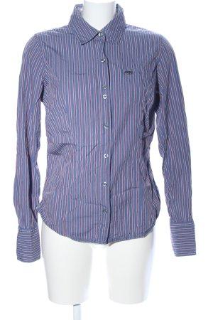 Hilfiger Denim Langarmhemd blau-rot Streifenmuster Casual-Look