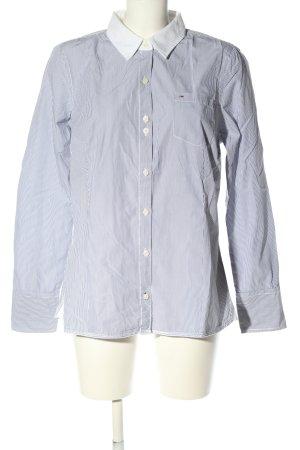 Hilfiger Denim Langarmhemd hellgrau-weiß Casual-Look