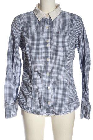 Hilfiger Denim Camicia a maniche lunghe blu-bianco motivo a quadri stile casual
