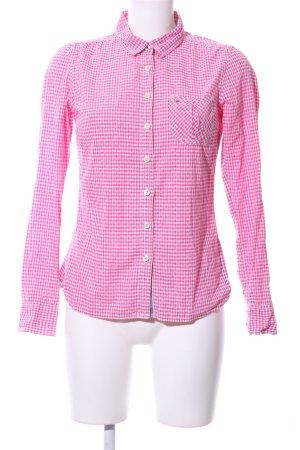 Hilfiger Denim Langarmhemd pink-weiß Allover-Druck Casual-Look