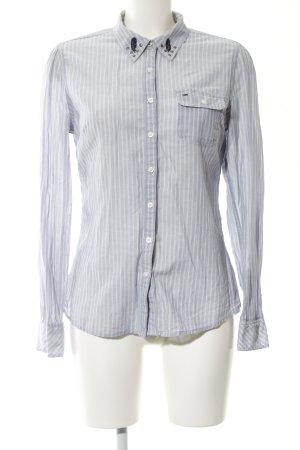 Hilfiger Denim Langarmhemd hellgrau-weiß Streifenmuster Casual-Look