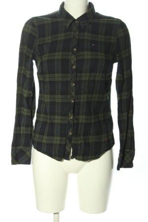 Hilfiger Denim Langarmhemd khaki-schwarz Allover-Druck Casual-Look