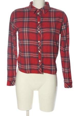 Hilfiger Denim Langarmhemd rot-blau Allover-Druck Casual-Look