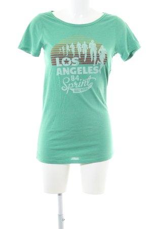 Hilfiger Denim Lang shirt groen prints met een thema casual uitstraling