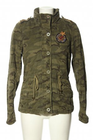 Hilfiger Denim Militaryjacke khaki Camouflagemuster Casual-Look