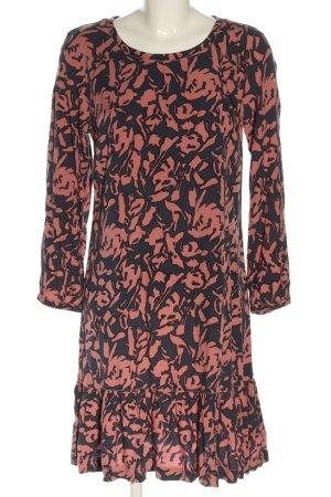 Hilfiger Denim Minikleid pink-schwarz abstraktes Muster Casual-Look