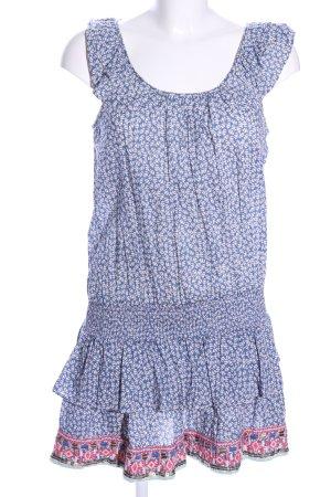 Hilfiger Denim Minikleid blau-weiß Allover-Druck Casual-Look
