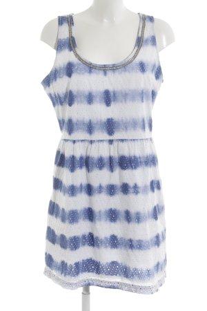 Hilfiger Denim Minikleid weiß-blau Batikmuster Bleached-Optik