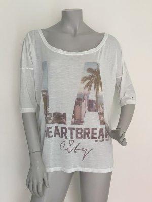 Hilfiger Denim Oversized Shirt natural white-white polyester
