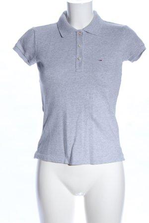 Hilfiger Denim Polo grigio chiaro puntinato stile casual