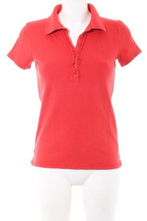 Hilfiger Denim Polo-Shirt rot Casual-Look