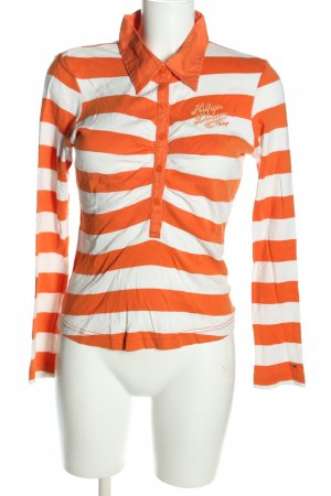 Hilfiger Denim Polo orange clair-blanc imprimé allover style décontracté