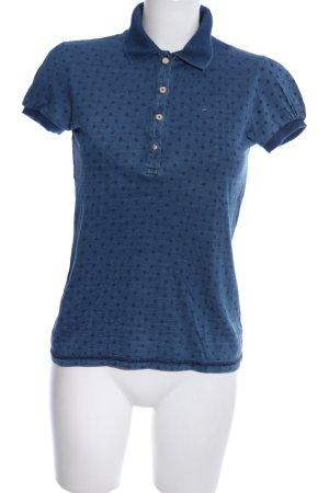Hilfiger Denim Polo-Shirt blau meliert Casual-Look