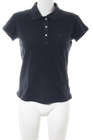 Hilfiger Denim Polo-Shirt schwarz Casual-Look